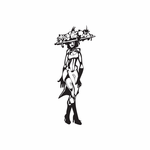 Woman with Hat full of Fruit Decal