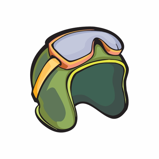 Skydiving Helmet and Goggles Sticker