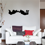 Two Skydivers Decal
