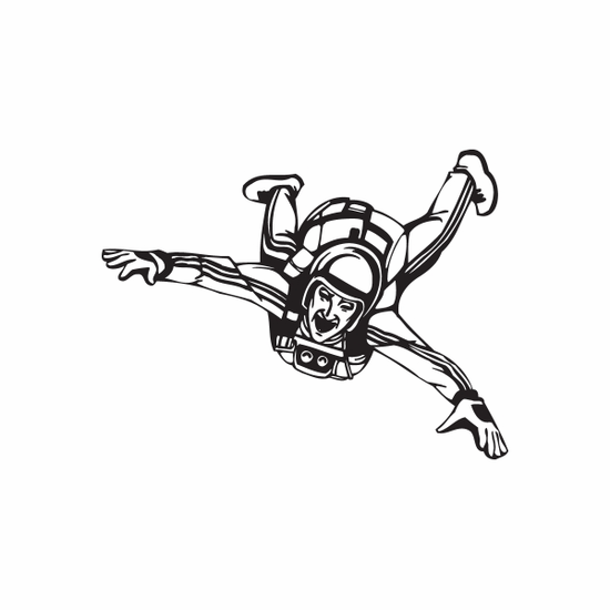 Free falling Skydiver Decal