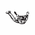 Dropping Out Free Falling Skydiving Decal