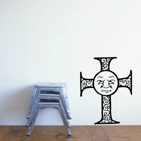 Filligree Cross with Face Decal