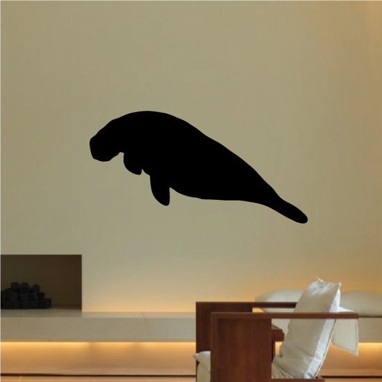 Floating Manatee Decal