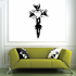 Tribal Cross Dagger with Heart Decal