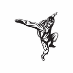 Skydiving Stretched Arms Pose Decal