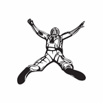 Skydiving Open Arms Dive Decal