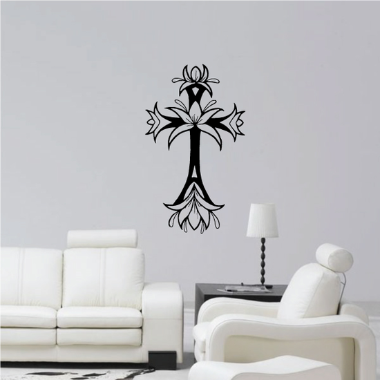 Blooming Cross Decal