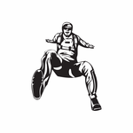 Skydiving Leap Off Pose Decal