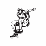 Skydiving Jumping Off Pose Decal