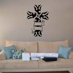 Tribal Cross with Ribbon Decal