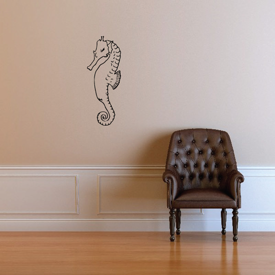 Bold Seahorse Decal