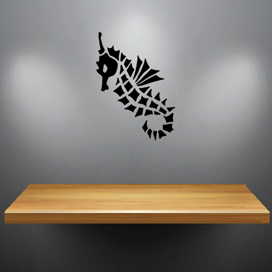 Spiny Swimming Seahorse Decal