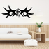Cross with Tribal Wings Decal
