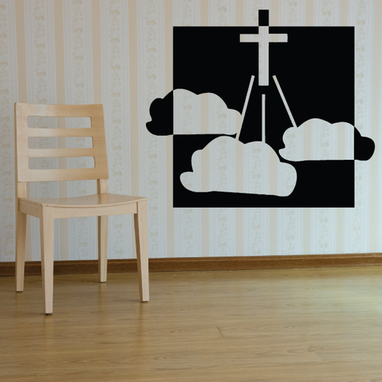 Jesus shines Light through the clouds Decal