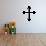 Capped Cross Decal