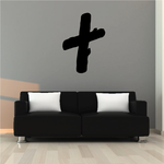 Wooden Grave Cross Silhouette Decal