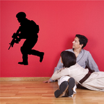 Running Soldier with Rifle Decal