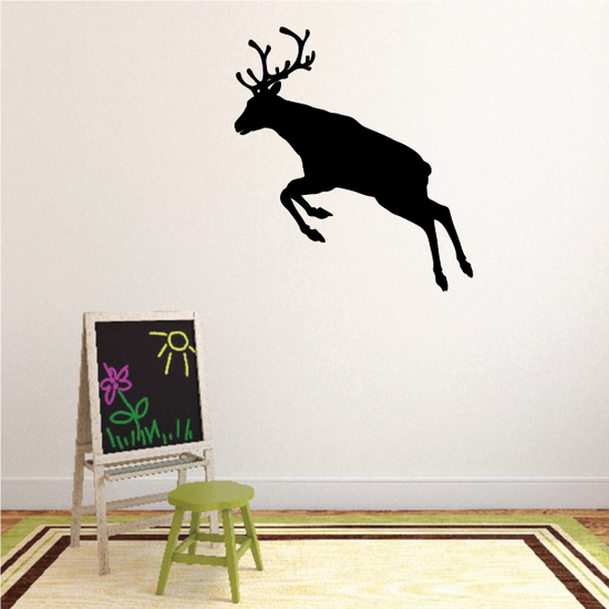 Graceful Leaping Reindeer Decal