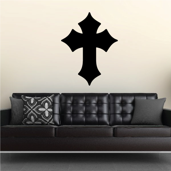 Wide Pointed Cross Decal