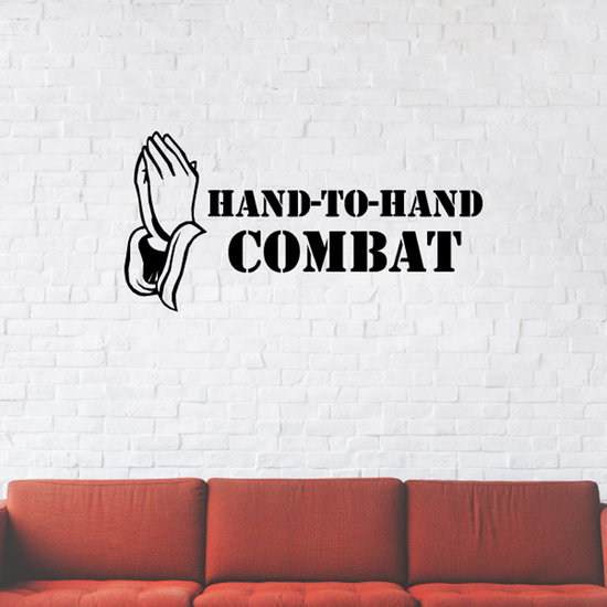 Hand to hand combat Praying Hands Decal