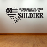His Duty Son Soldier Decal