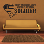 Her Duty Uncle Soldier Decal