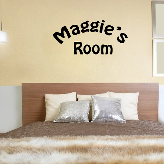Custom Wall Room Names Decal