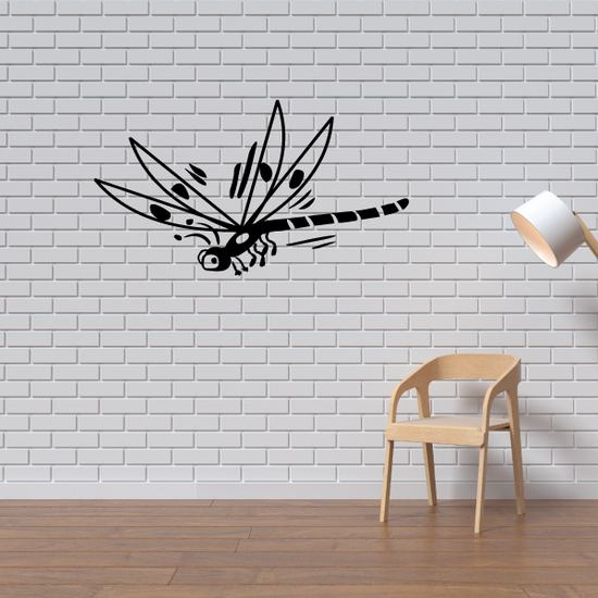 Dragonfly Spread Wings Decal