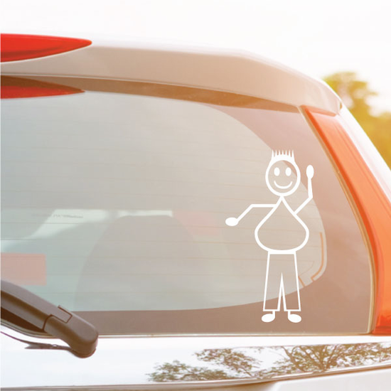 Dad Wide and Waving Decal