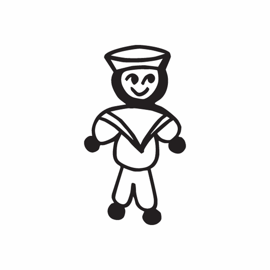 Dad Sailor Decal
