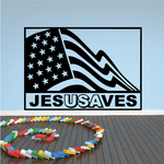 JesUSAves Flag Decal