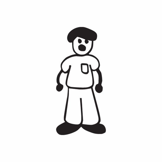 Dad with Shirt Pocket Decal