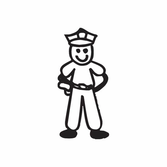 Dad Policeman Decal