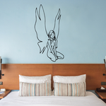 Large Wing Fairy Sitting Decal