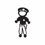 Dad Policeman with No Face Decal