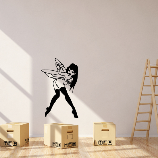 Playful Fairy with Boots Decal