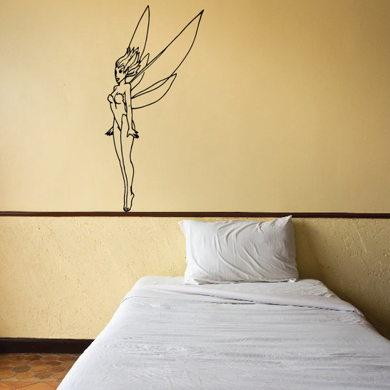 Startled Fairy Decal