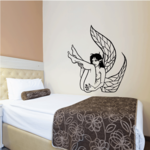 Falling Leaf Wing Fairy Decal