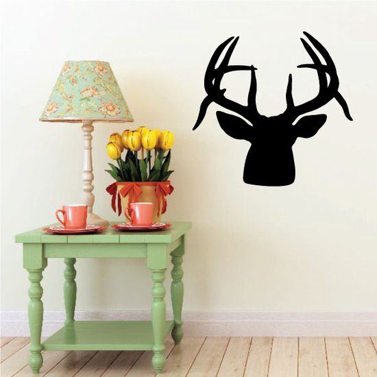 Stag Head Antlers Decal