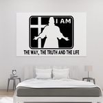I am The way the truth the life Decal