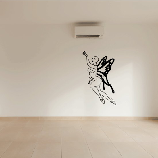 Hairless Butterfly Fairy Reaching Decal