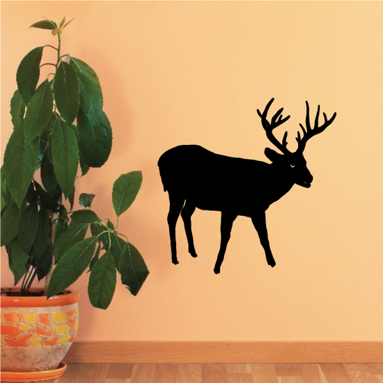 Buck Deer Observing Decal