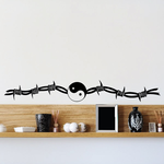 Yin yang Barbed Wire Decal