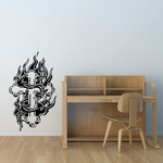 Cross with Barbed wire Decal