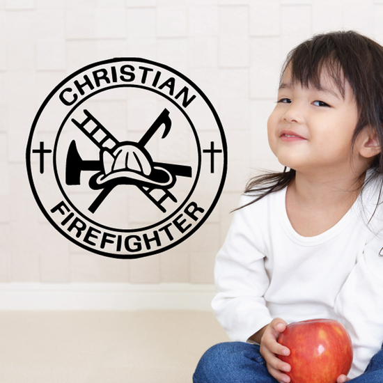 Christian Firefighter Decal