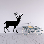 Majestic White Tail Deer Silhouette Decal