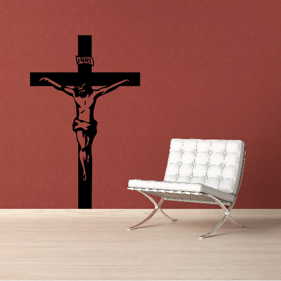 Detailed Jesus on the cross Decal