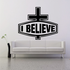 I Believe Cross Decal