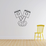 Two Motorcycle Pistons Decal