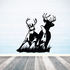 Two White Tail Deers on Grass Decal